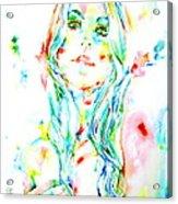 Watercolor Woman.1 Acrylic Print