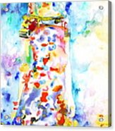 Watercolor Woman.18 Acrylic Print