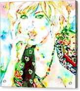 Watercolor Woman.3 Acrylic Print