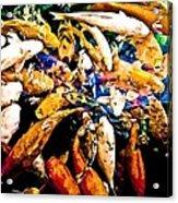 Watercolored Koi Acrylic Print