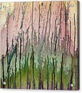 Watercolors Running Acrylic Print