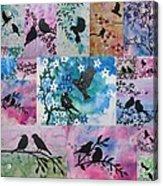 Watercolour Birds Acrylic Print