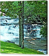 Waterfall And Hammock In Summer 2 Acrylic Print