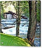 Waterfall And Hammock In Summer 3 Acrylic Print