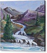 Purple Mountain River Acrylic Print
