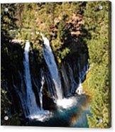 Waterfall And Rainbow Acrylic Print