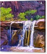Waterfall At Coyote Creek Acrylic Print
