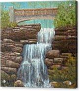 Waterfall At East Hampton Acrylic Print