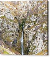 Waterfall At Lago Del Matese Acrylic Print