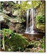Waterfall At Roughting Linn Acrylic Print