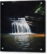 Waterfall At Table Rock National Forest Acrylic Print