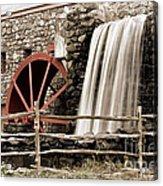 Waterfall At The Mill Acrylic Print