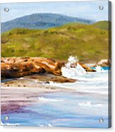 Waterfall Beach Denmark Painting Acrylic Print