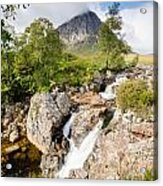 Waterfall Below Stob Dearg Acrylic Print