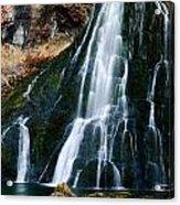 Waterfall In Austria Panorama Acrylic Print