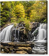 Waterfall In Autumn Acrylic Print