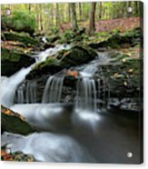 Waterfall In Autumn Woods Acrylic Print