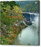 Waterfall In Forest, Cumberland Falls Acrylic Print