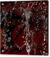 Waterfall In Red Acrylic Print