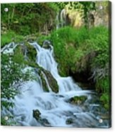 Waterfall In Spearfish Cayon South Acrylic Print