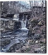 Waterfall In The Fall Acrylic Print