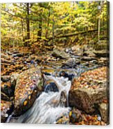 Waterfall In The Fall Nh Acrylic Print
