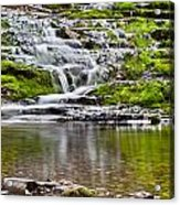 Waterfall In The Forest In Autumn Season  Acrylic Print