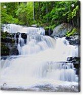 Waterfall In The Pocono Mountains Acrylic Print
