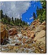 Waterfall In The Rockies Acrylic Print