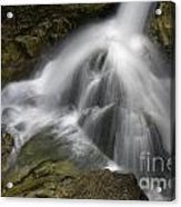 Waterfall In The Rocks Acrylic Print