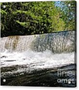 Waterfall In Woodstock Vermont Acrylic Print