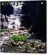 Waterfall Into The Stream Acrylic Print