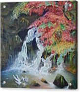 Japanese Waterfall Acrylic Print