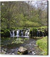Waterfall Lathkill Dale Derbyshire Acrylic Print
