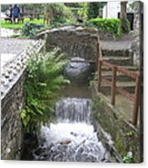 Waterfall Outside The Fish Place In Ballykissangel Acrylic Print