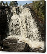 Waterfall Acrylic Print by Peter Cassidy