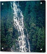 Waterfall Princess Louisa Inlet Acrylic Print