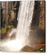 Waterfall Rainbow Acrylic Print