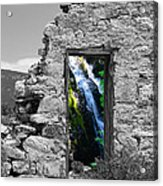 Waterfall Through The Magic Door Acrylic Print