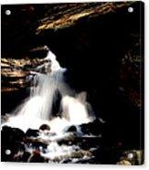Waterfall- Viator's Agonism Acrylic Print by Vijinder Singh