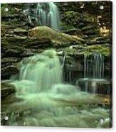 Waterfalling Through Ricketts Glen Acrylic Print