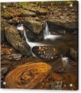 Waterfalls And Swirl Acrylic Print