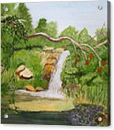 Waterfalls At Red Butte Garden Acrylic Print