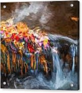Waterfalls Childs National Park Painted  Acrylic Print