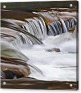 Waterfalls On The Blue Acrylic Print