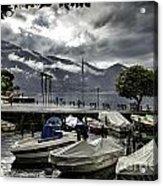 Waterfront At Ascona Acrylic Print