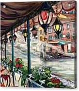 Waterfront Cafe Acrylic Print