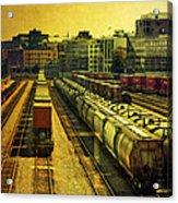 Waterfront Rail Yard Acrylic Print