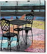 Waterfront Seating Acrylic Print