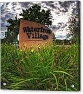 Waterfront Village Acrylic Print